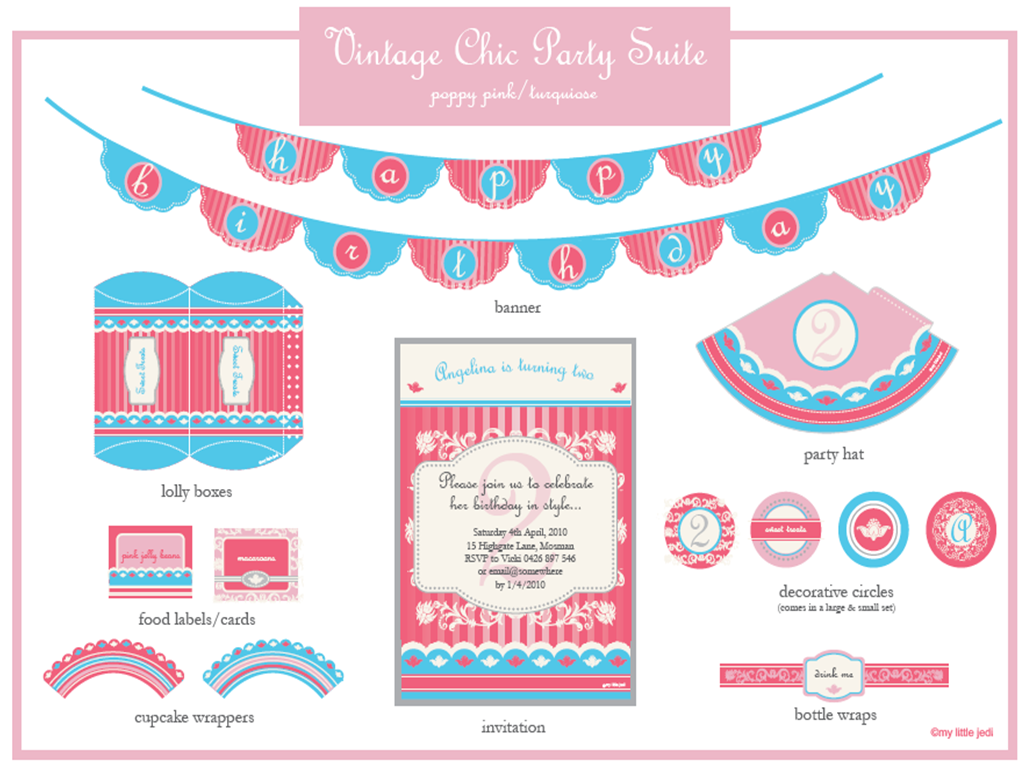 One Lovely Day Vintage Chic Diy Printables By My Little Jedi