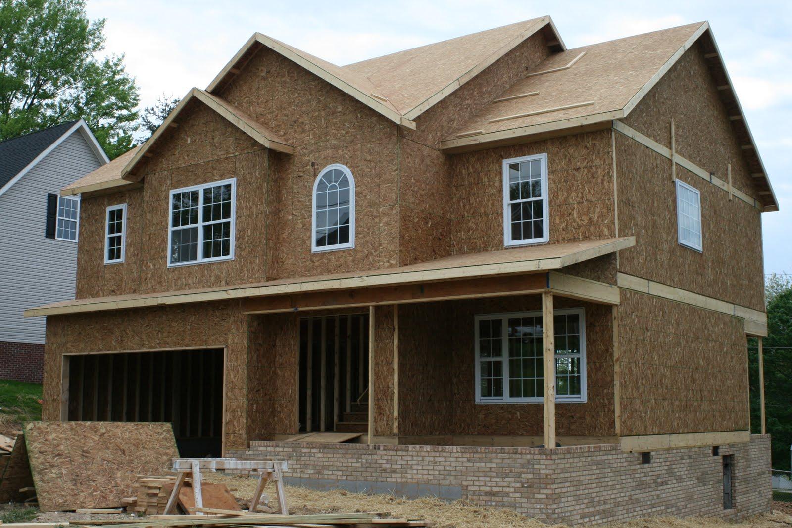 New House Construction Progress Framing Finished