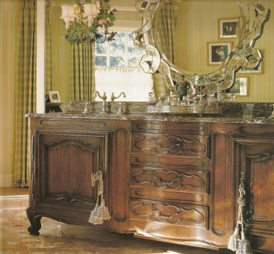 Welcome to bonnes amies french country powder rooms - Country french bathroom vanities ...