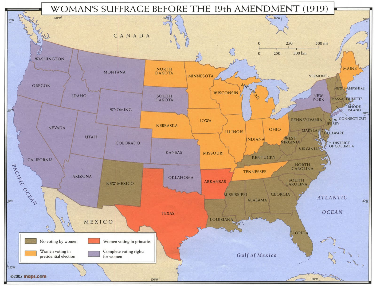Women   suffrage maps from ball state university libraries mark th amendment anniversary also gis research and map collection rh bsumapsspot