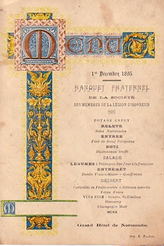 Jamaica Byles Ephemera Antique Menus