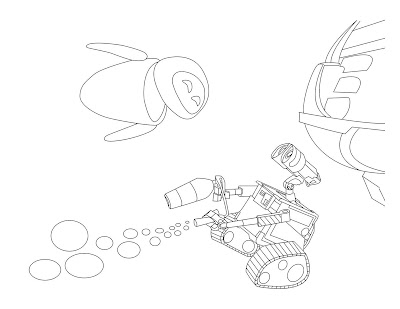 Wall-E coloring picture | 309x400