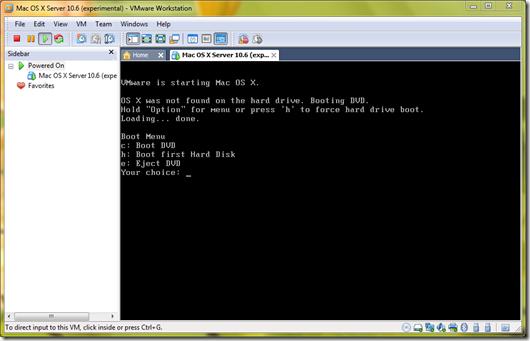 Install Mac OS X Snow Leopard in VMWARE Windows 7 Edition