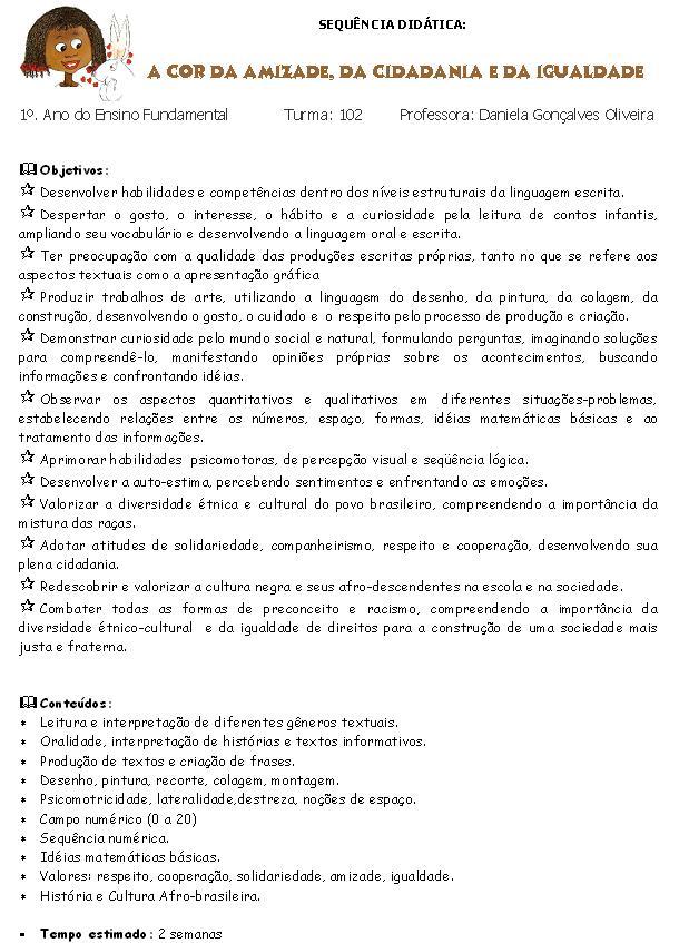 Fabuloso ALFABETIZAÇÃO DIVERTIDA: A COR DA AMIZADE, DA CIDADANIA E DA IGUALDADE DL46