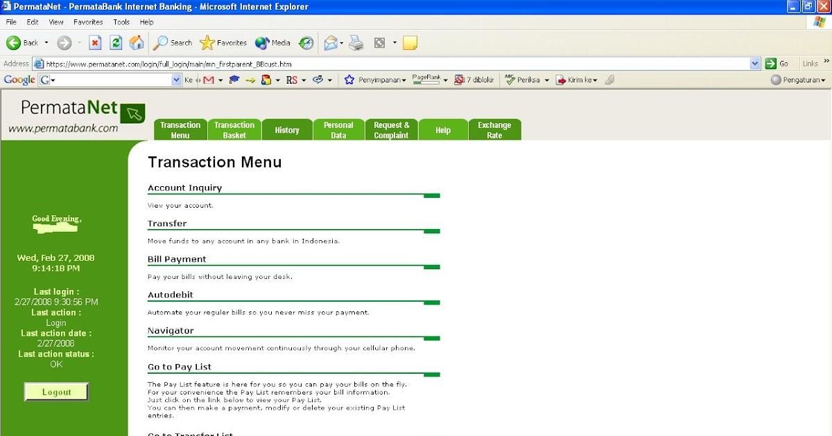 Media Informasi Anda: Internet Banking Bank Permata