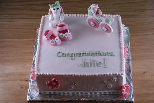 Night Baking Julie S Baby Shower Cake