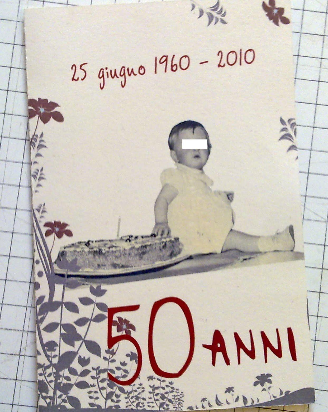 Ben noto Invito 50esimo compleanno | Marta Paper Design NB29