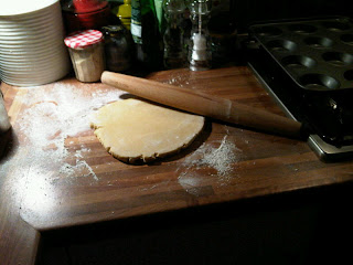 Partially rolled dough