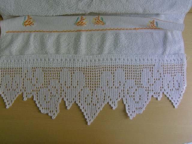 La mia vetrina creativa bordure uncinetto per asciugamani for Schemi bordure uncinetto per lenzuola