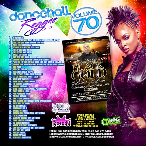 MEGGA MUSIC: DJ Rondon – Dancehall Reggae Vol 70