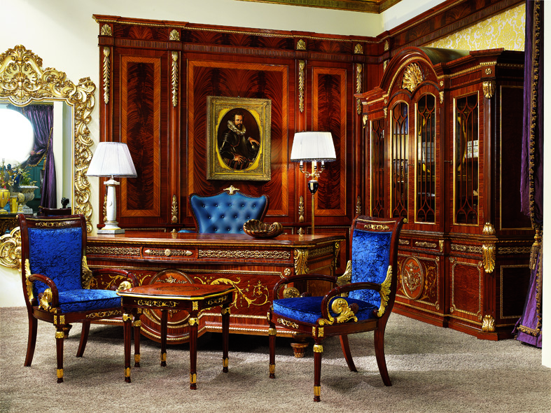 Classic English Office Study Room Furniture Sets | Luxury ...