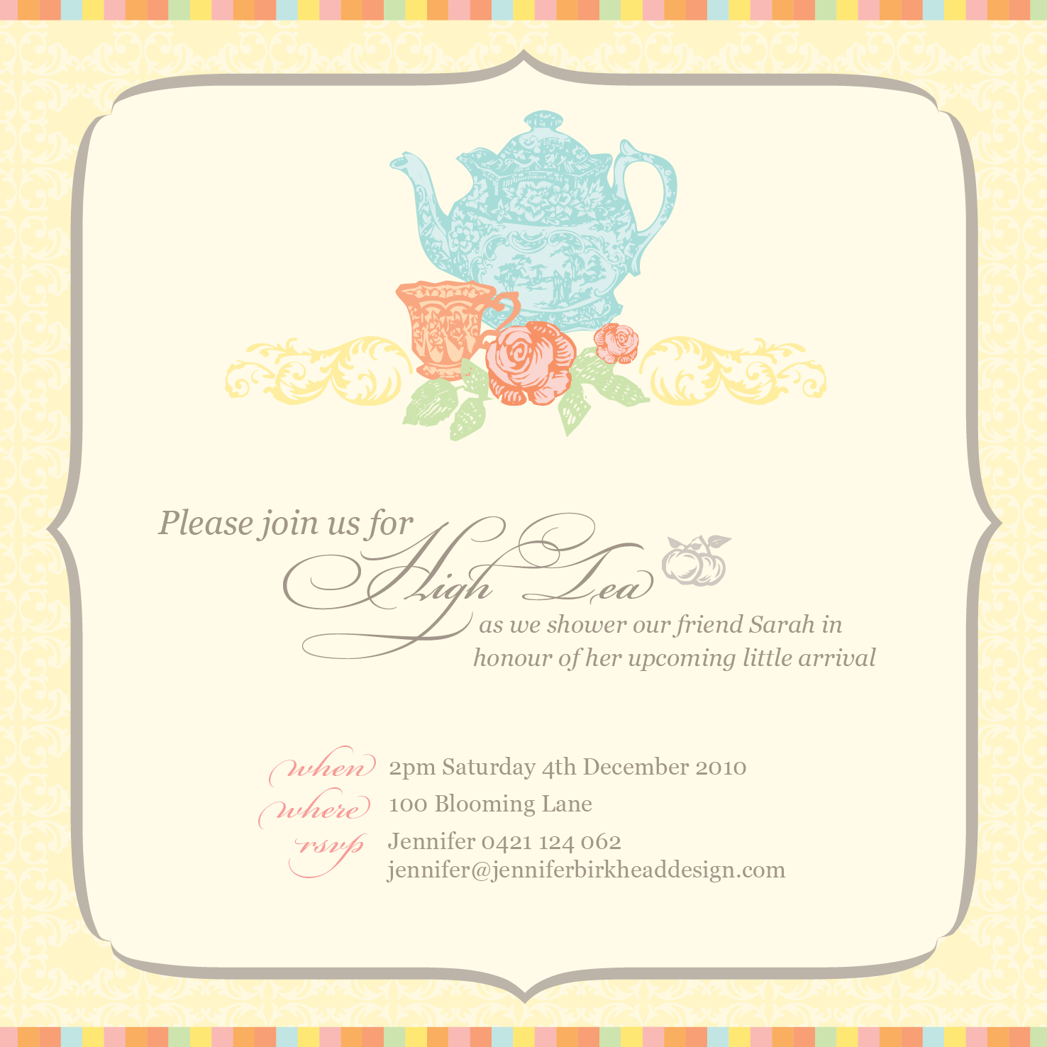 Tea party baby shower invitations image collections baby shower baby shower tea party invitations free tea party invitation filmwisefo