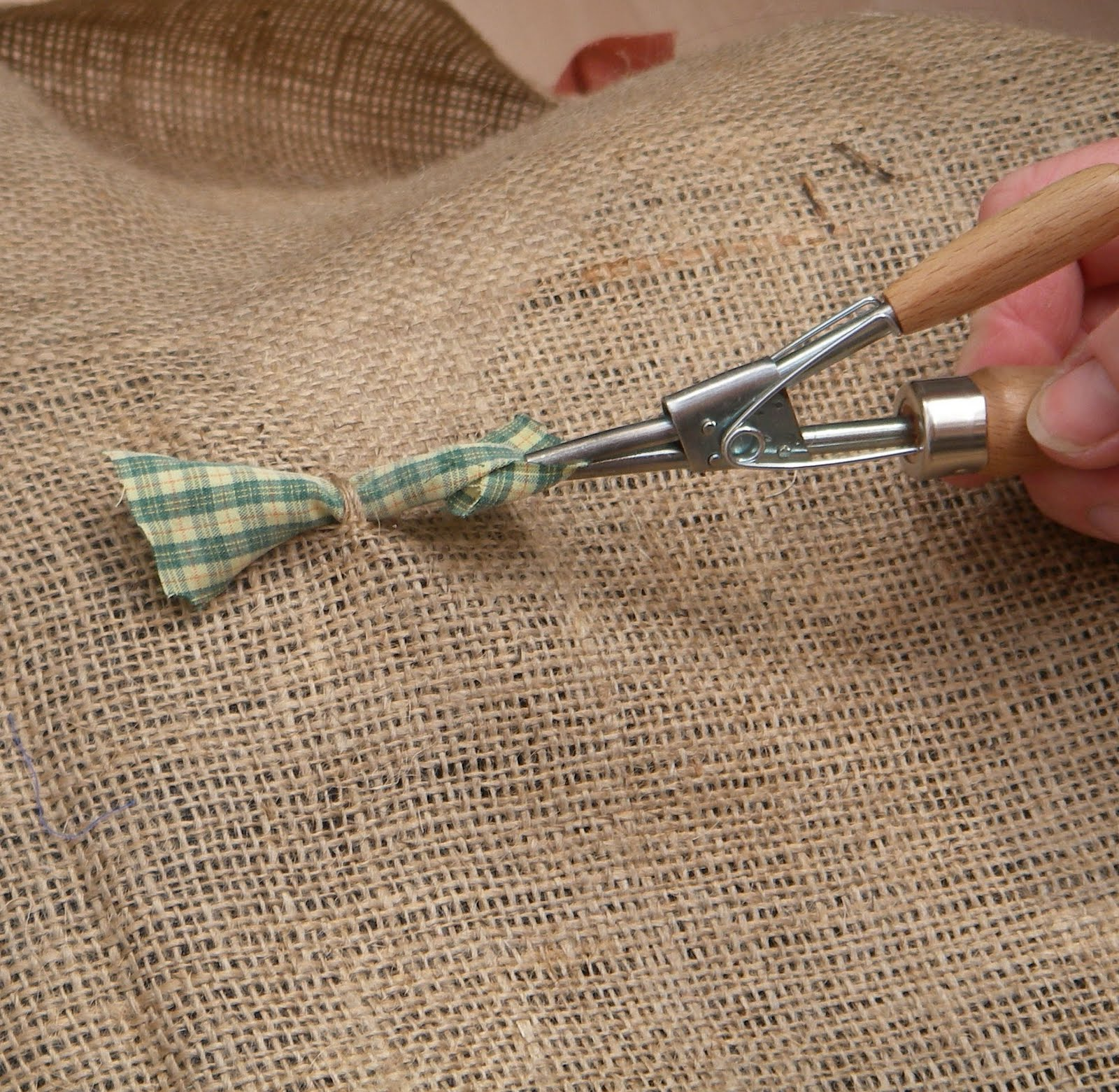 The Next Strip Should Be Threaded Into Hessian