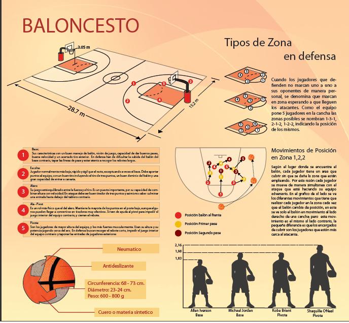 Arquitectura De La Informacion Infografia Baloncesto