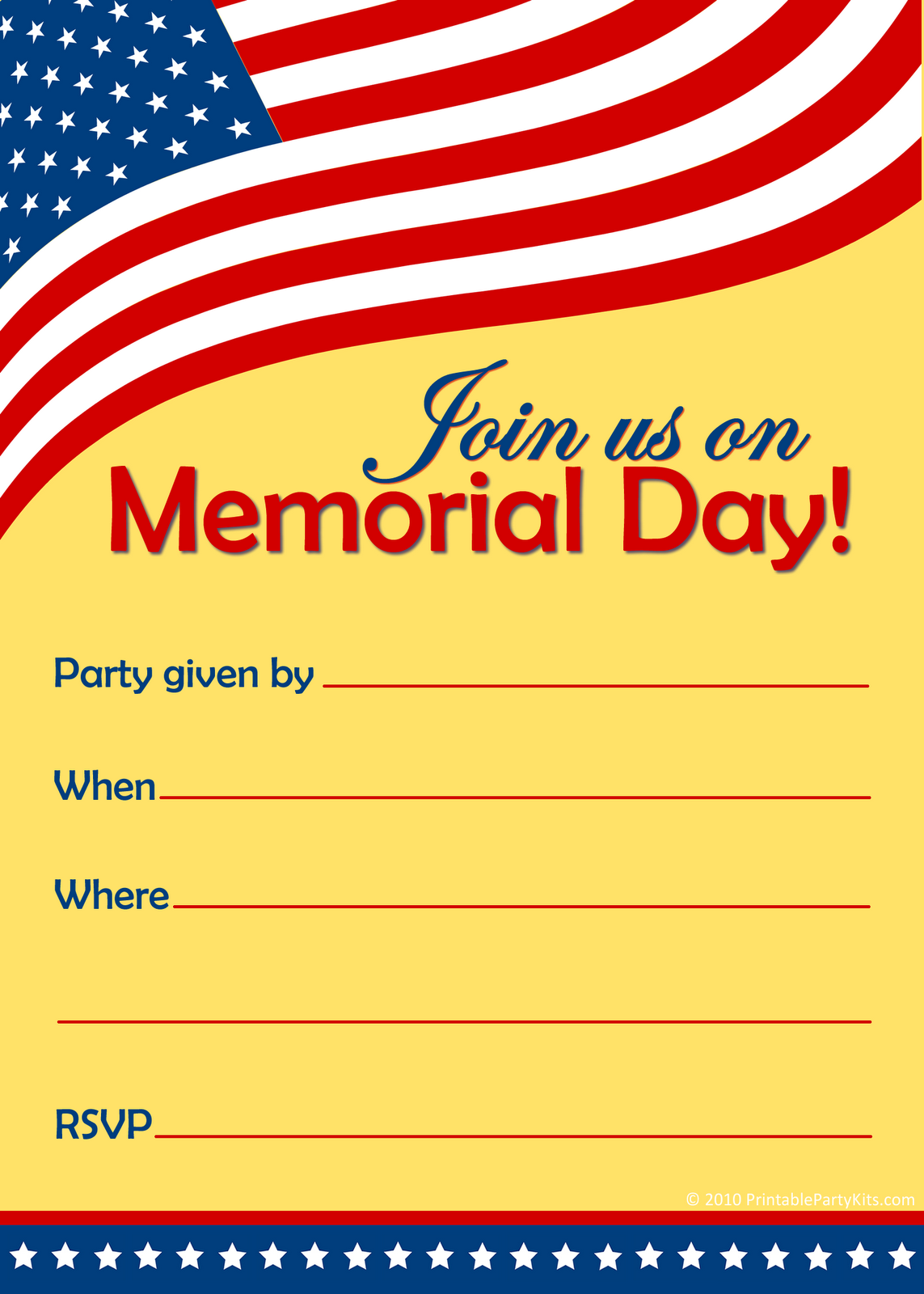 free memorial day party invitations fathers day 2011