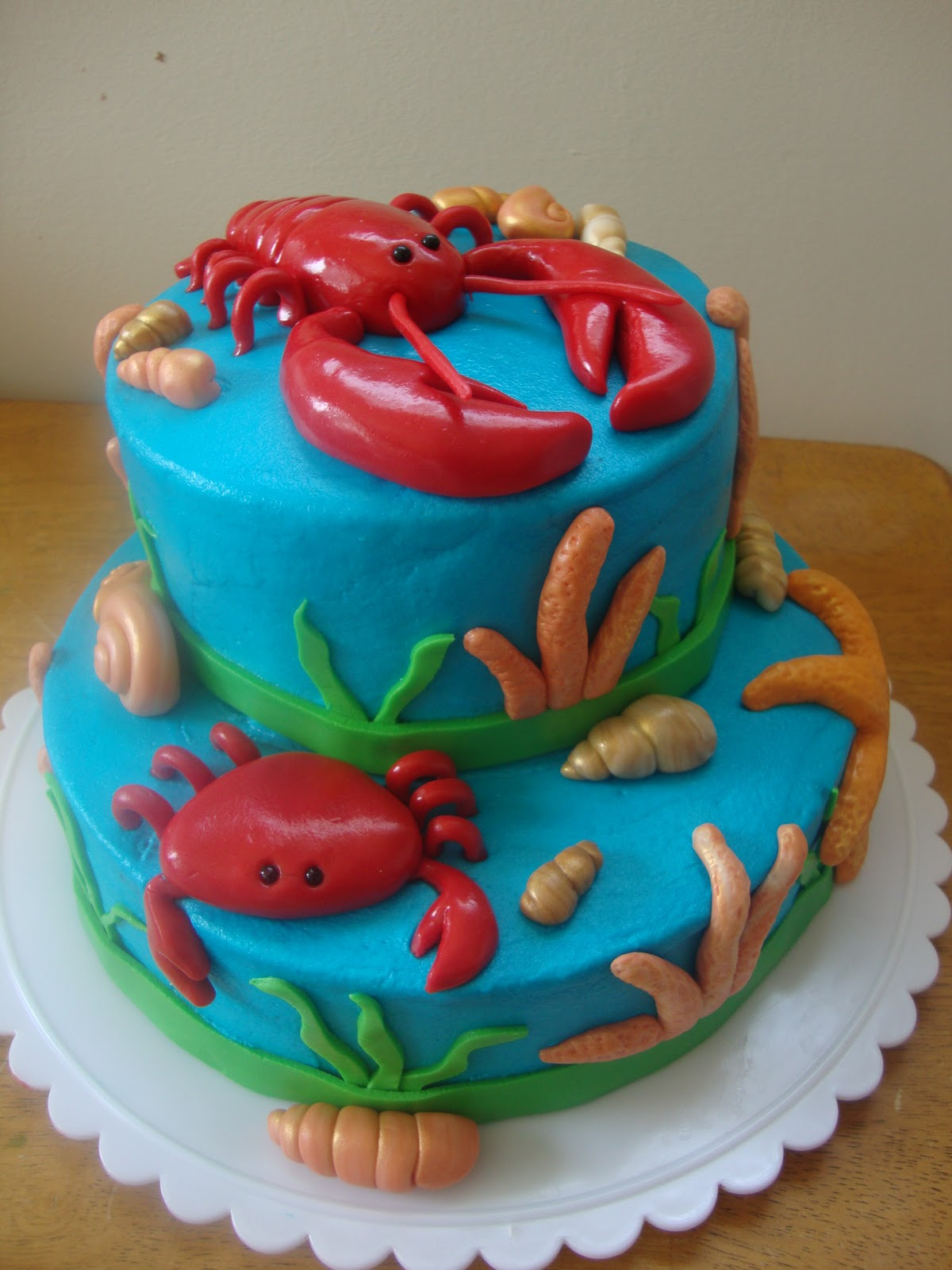 Whimsy Girls Cakes Under The Sea Cake