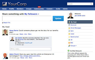 Is Yammer a corporate alternative to Twitter?