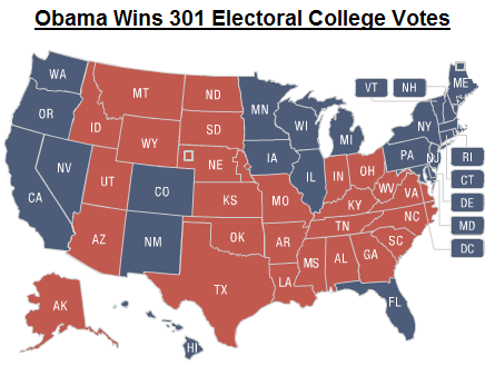 electoral college map 2010 - photo #7
