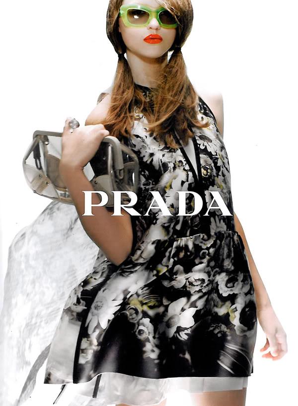 2010 Green Prada sunglasses ad campaign   EYE WEAR GLASSES