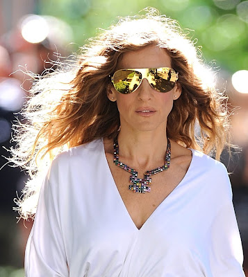 Sarah Jessica Parker wear Mykita sunglasses in Sex and the City 2 movie