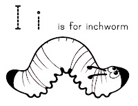 inchworm coloring page letter i for inchworm confessions of a homeschooler