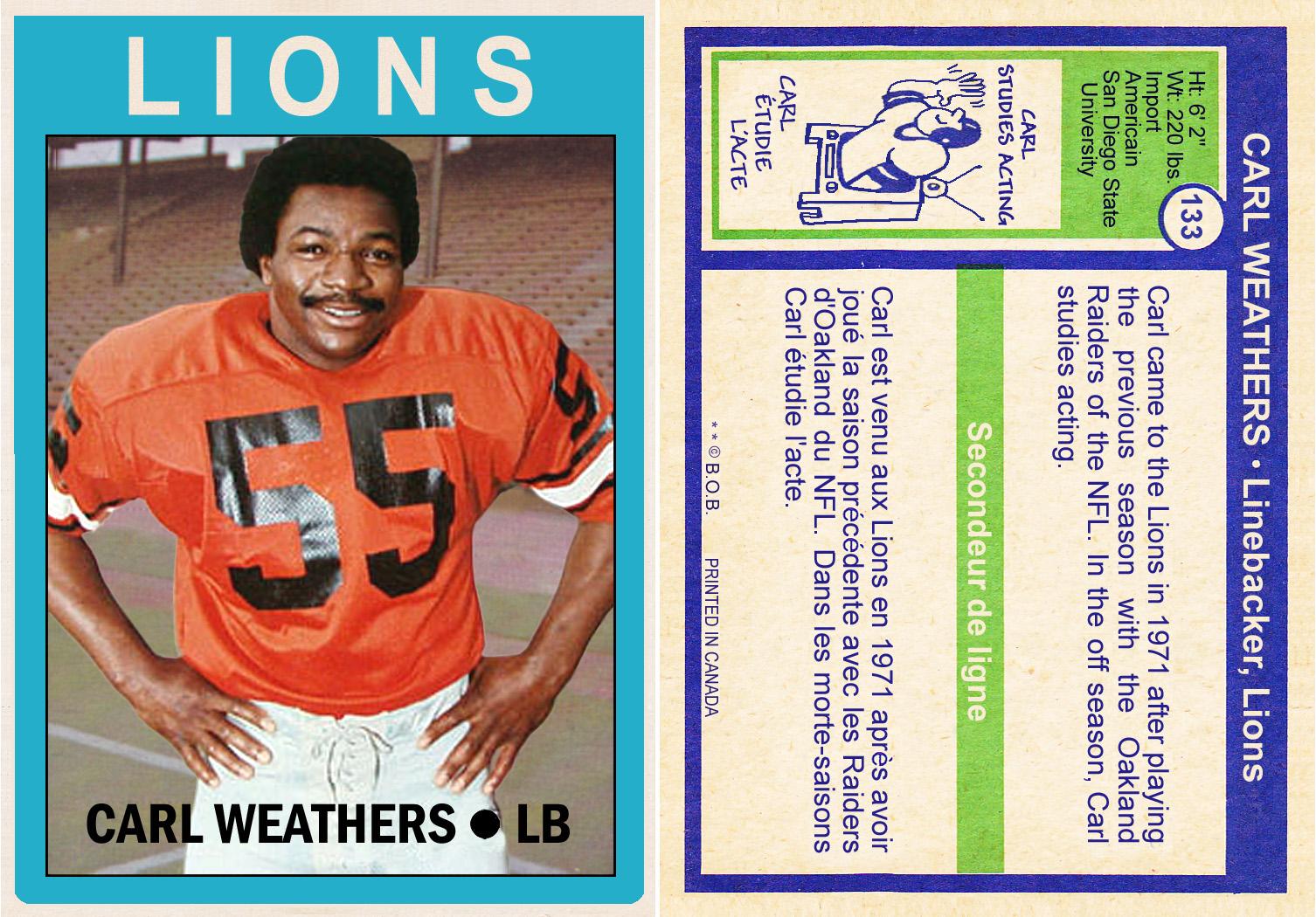 buy online b4348 0f96b Bob Lemke's Blog: Carl Weathers custom cards, la partie trois