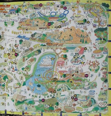 NewsPlusNotes: Knott's Berry Farm 1997 Map on