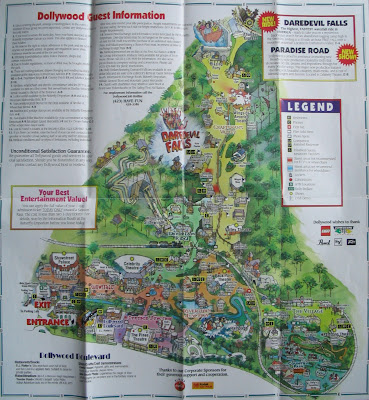 NewsPlusNotes  Dollywood 1998 Map And this is from an additional Dollywood Press Release