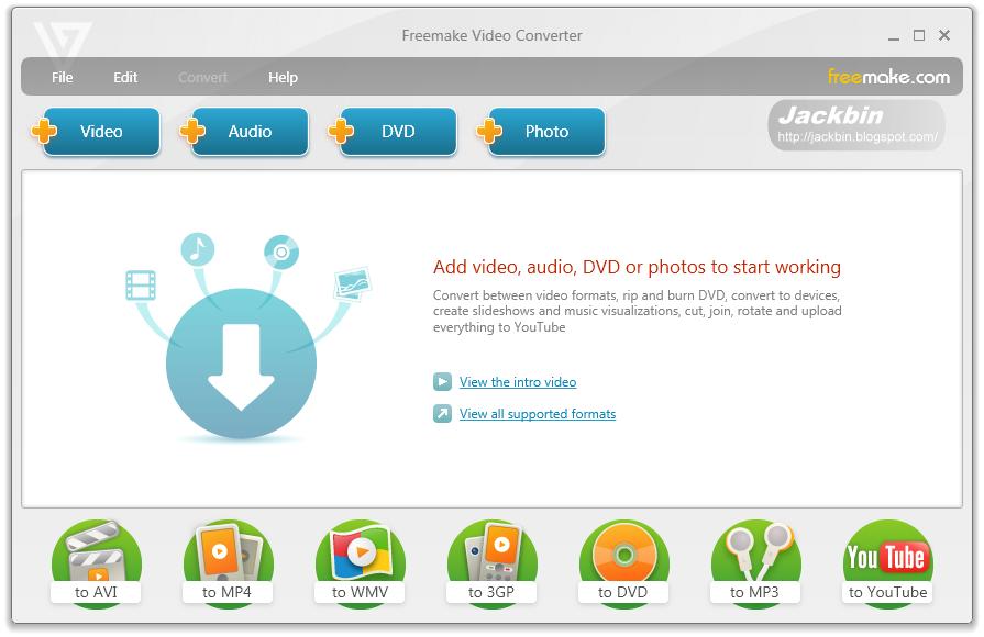 免費的影音轉檔程式 - Freemake Video Converter ~ Jackbin 的懶人筆記