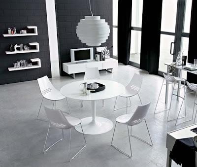 Masa si scaune Planet cu design italian poza 2