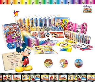 12 Libros Mundo Inglés de Disney