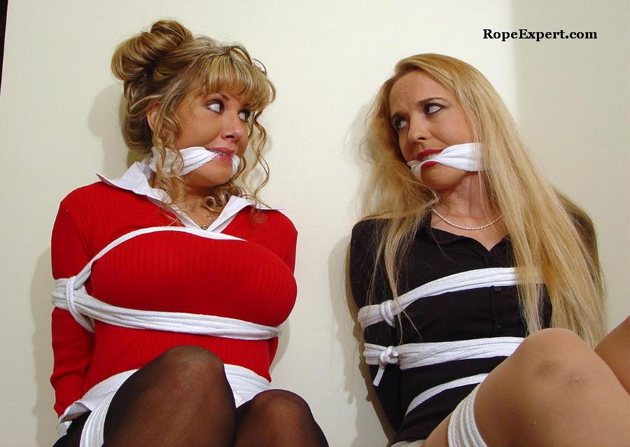 MYRA: Double damsel bondage