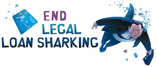 End legal loan sharking and support credit unions