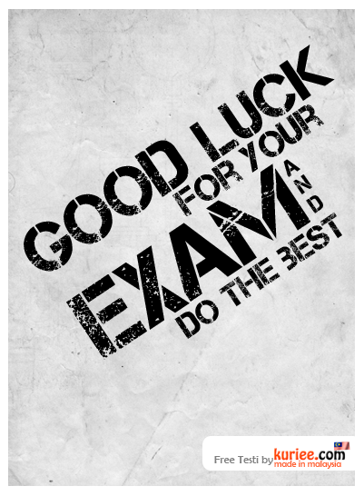 Fanletebud Good Luck Quotes For Exams