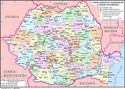 Feroviarii Harta Administrativa A Romaniei