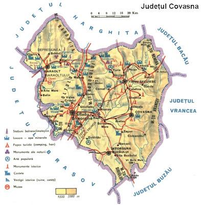 Feroviarii Harta Turistica A Judetului Covasna