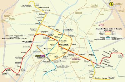 Feroviarii Harta Metrou Bruxelles