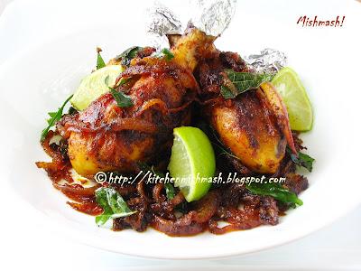 Mishmash !: Kerala Style Chicken Fry – Kozhi Varuthathu