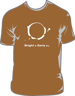 Bright & Early cream t-shirt