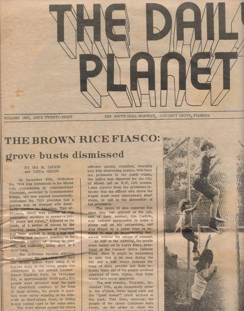 coconut grove grapevine: back in the day with the daily planet