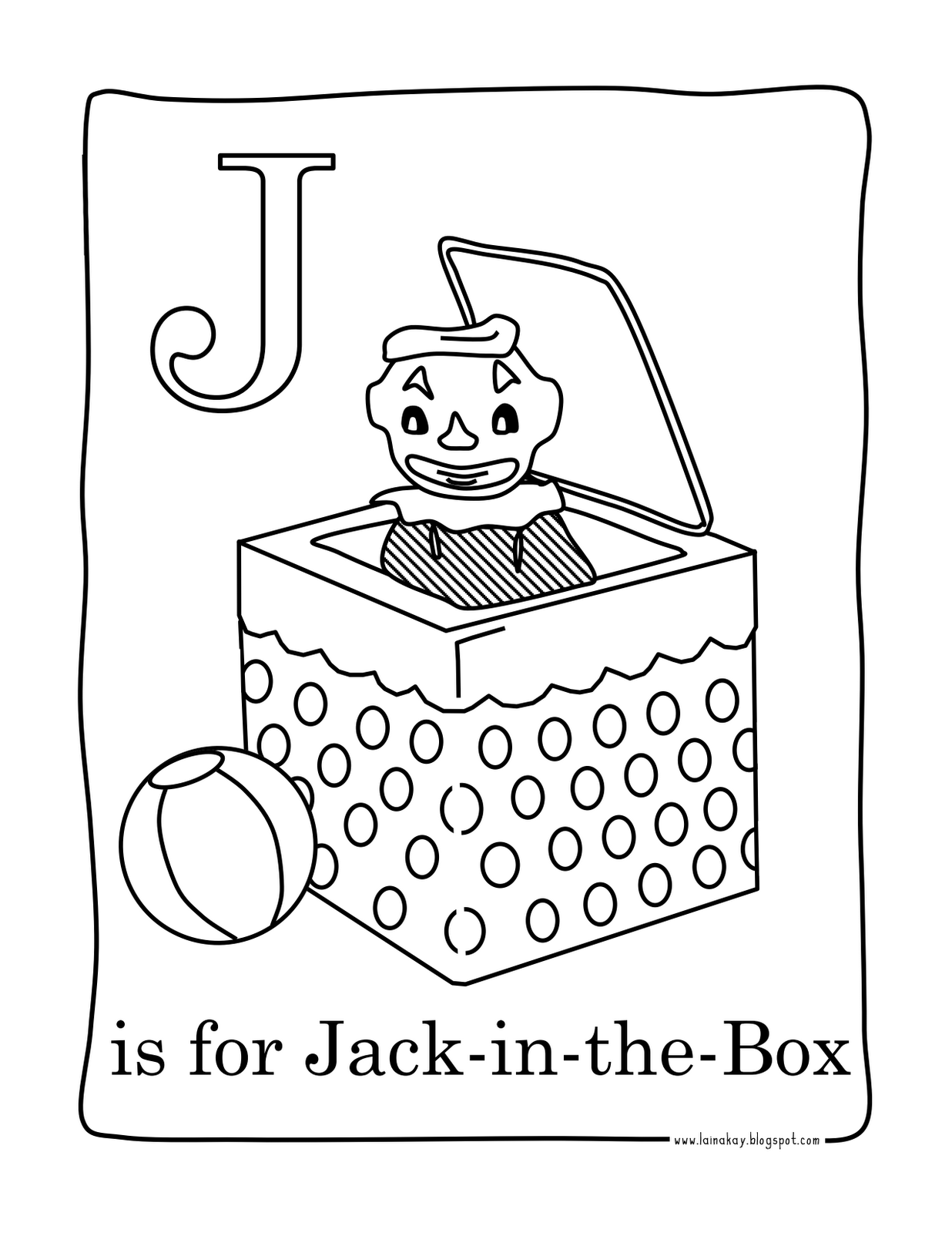 Goodness Gracious J Is For Jack In The Box