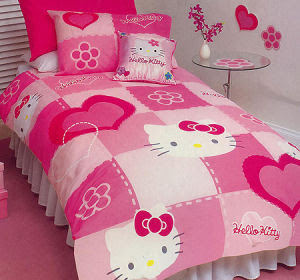 Hello Kitty Toddler Bedding - Toddler Room