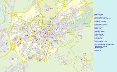 mapa de guimaraes portugal As Maravilhas de Guimarães: Mapa da Cidade de Guimarães mapa de guimaraes portugal