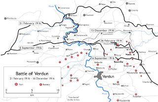 Batalla De Verdun Mapa.Clases De Historia Geografia Y Arte La Batalla De Verdun