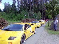 Lamborghini's as far as the eye can see!
