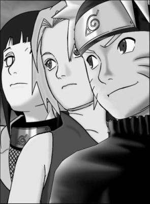 Hinata,Sakura e Naruto