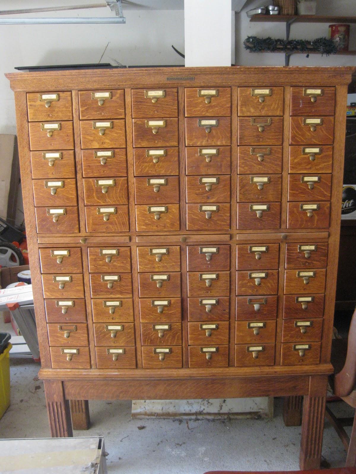 Antique Assets Sold Library Bureau Sole Makers 60