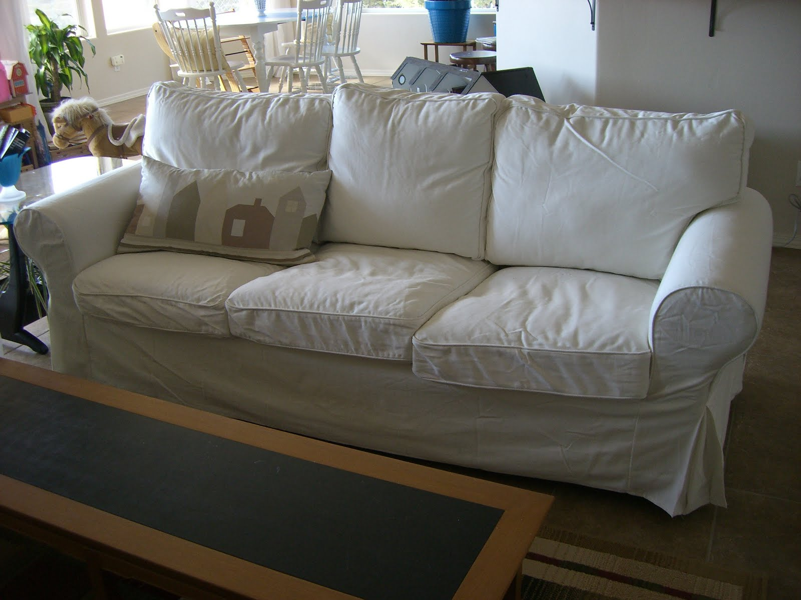 home kids life white sofas children ikea ektorp. Black Bedroom Furniture Sets. Home Design Ideas