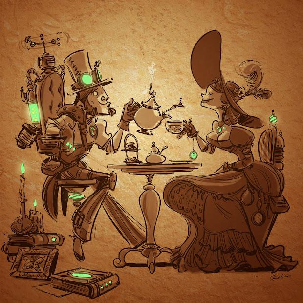 Steampunk Tea Kesinger Art