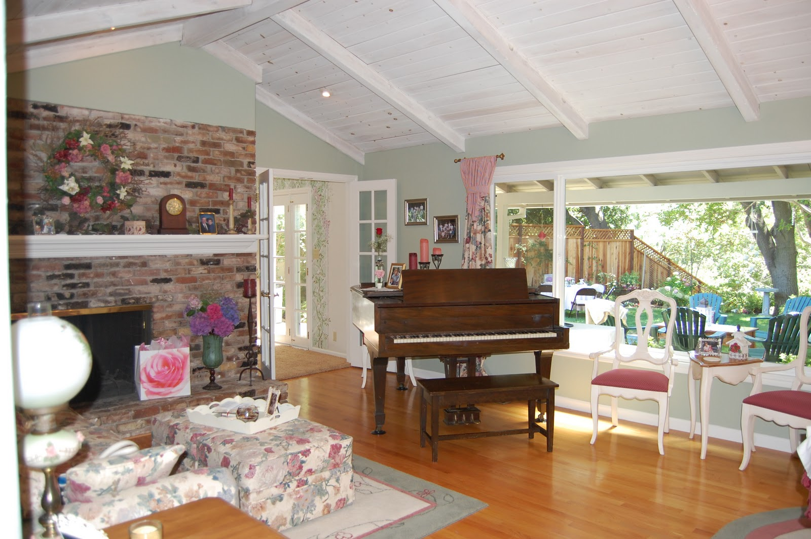 Our Living Room With Baby Grand Piano Its 100 Years Old And I Love It